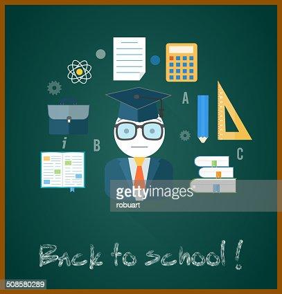Back to school concept : Vektorgrafik
