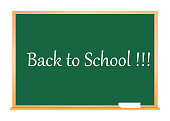 Back to school. Education. Green color. Vector illustration