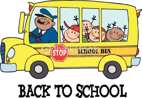 Bus scolaire avec des enfants heureux clipart vectoriel thinkstock - Dessiner un bus ...