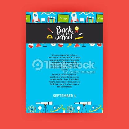 Back To School Poster Template Vector Art Thinkstock