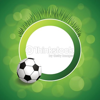 Background Abstract Green Football Soccer Ball Circle Frame ...