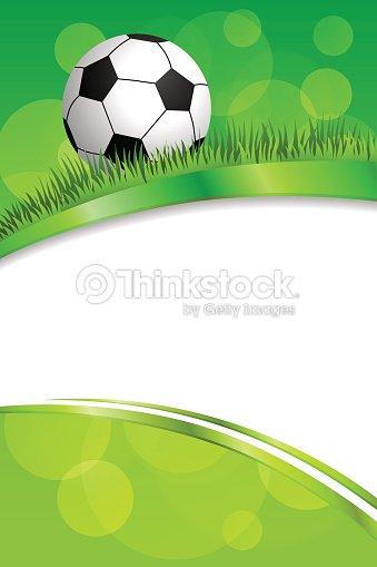 Background Abstract Green Football Soccer Sport Ball Frame Ribbon ...