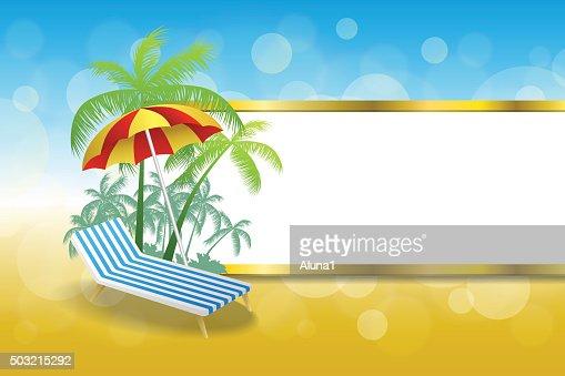 Liegestuhl mit sonnenschirm strand  Hintergrund Abstrakte Sommer Strand Urlaub Liegestuhl Mit ...