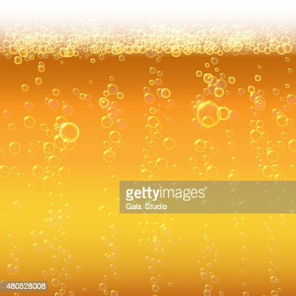 Background beer with foam and bubbles. : Vektorgrafik