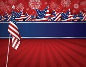 USA background design of American flag for 4 july independence day or other celebration
