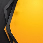Background design  yellow and black colors