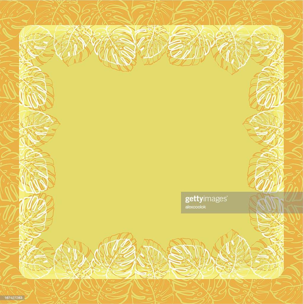 Background, frame of leaves : Vector Art