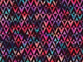 Geometric triangles nights stars color background. Abstract texture. Trendy vector can be used for web design, wallpapers, fabric, cases and printed products.