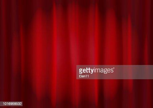 Hintergrundbild Von Rotem Samtvorhang Mit Spotbeleuchtung Abstrakt