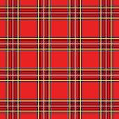 Scottish cage, red celtic. Scottish red checkered background. Scottish pattern. Vector illustration