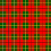 Scottish cage, red celtic. Scottish red checkered background. Scottish pattern. Vector illustration