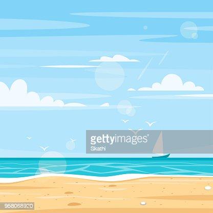 background of sea shore : stock vector