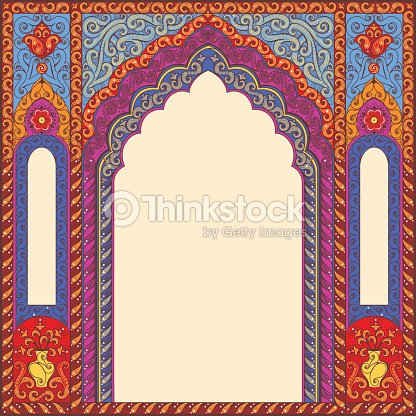 d cor s fond motif oriental de la vo te plantaire clipart vectoriel thinkstock. Black Bedroom Furniture Sets. Home Design Ideas