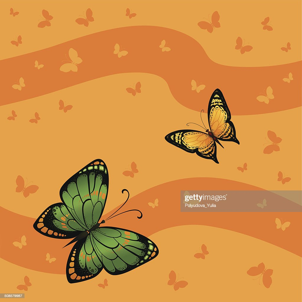 Background seamless of colorful butterflies flying : Vektorgrafik