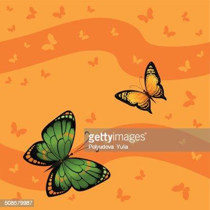 Background seamless of colorful butterflies flying : Vektorgrafik