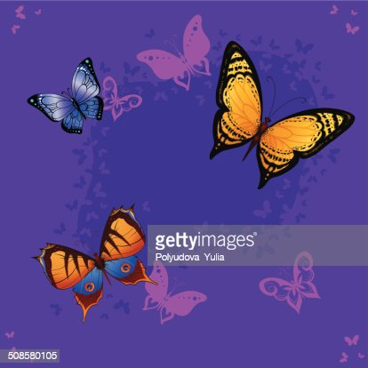 Background seamless of colorful butterflies flying : Vectorkunst