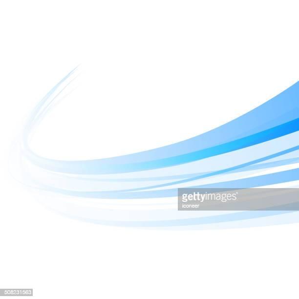 Background swirl blue