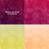 Background wine stains. Four different colors. vector texture
