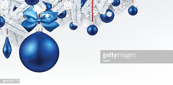 Background with blue 3d Christmas ball. : stock vector