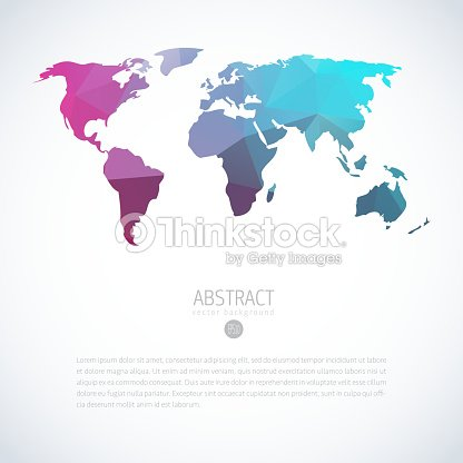 Background with blue triangle world map vector art thinkstock background with blue triangle world map vector art gumiabroncs Image collections