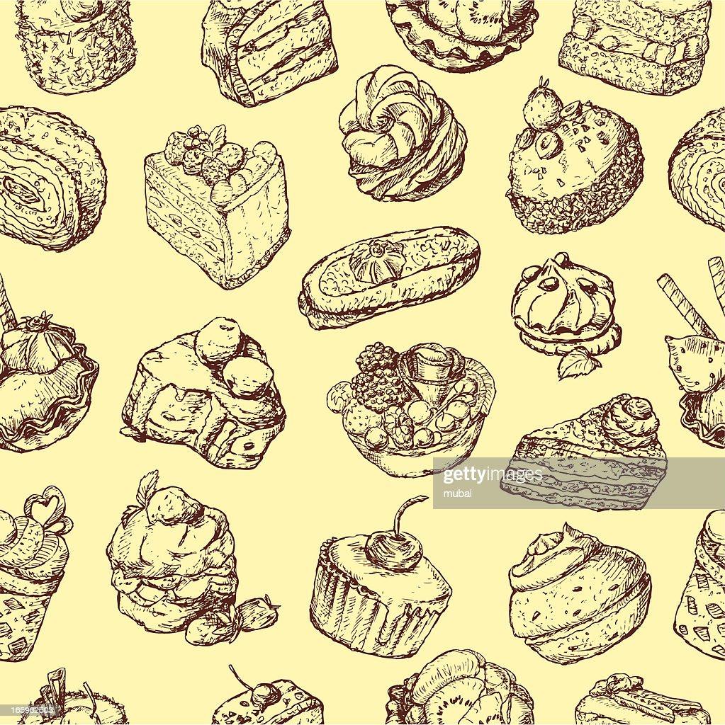 Hintergrund Mit Kuchen Vektorgrafik