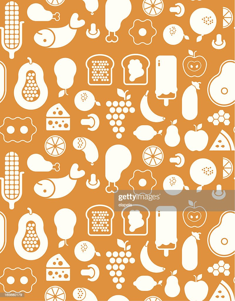 Background with food silhouette : Vector Art
