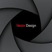 Background with lens shutter vector illustration.