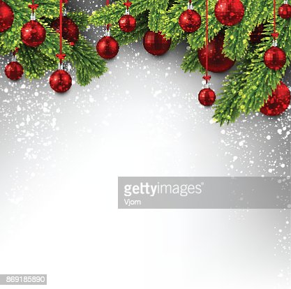 Background with red Christmas balls. : Vector Art