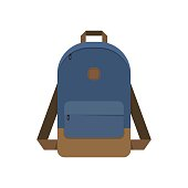 school Bag, Backpack, isolated on white background vector illustration