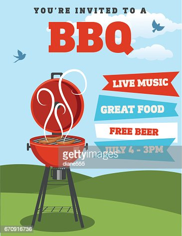 Bbq Invitation Template Vector Art | Getty Images