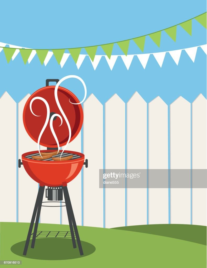 backyard bbq background vector art getty images