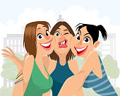Vector illustration of a bad angle for selfie