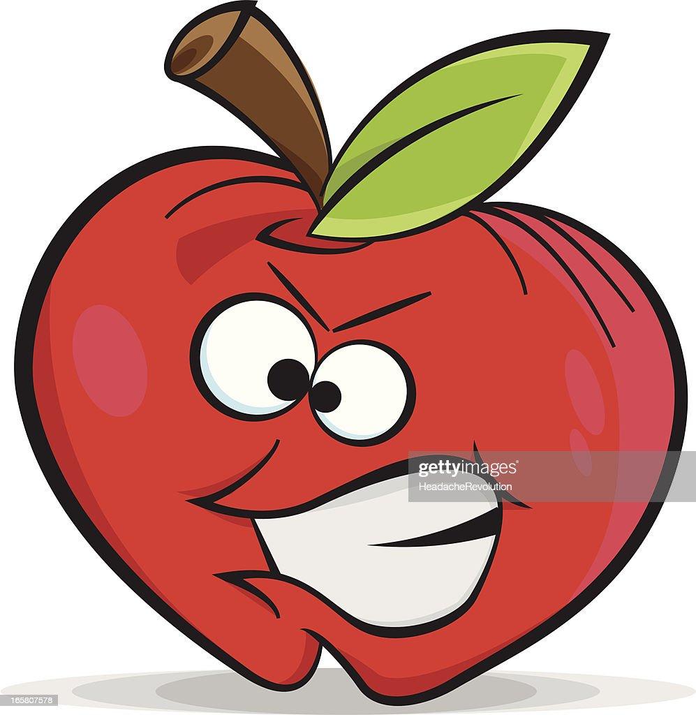bad apple cartoon vector art getty images