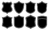 Badge Shape Set on the White Background