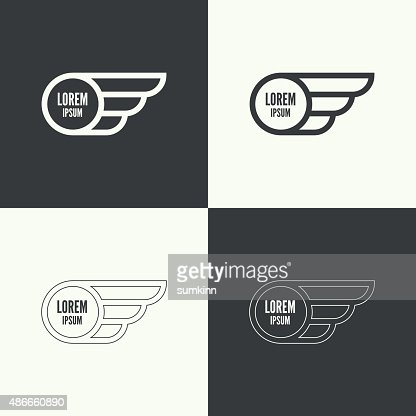 Badge with wings : stock vector