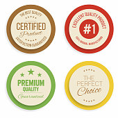 Badges and labels collection. Quality, assurance marks Vector
