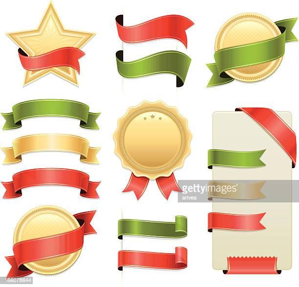 Badges and Ribbons Set