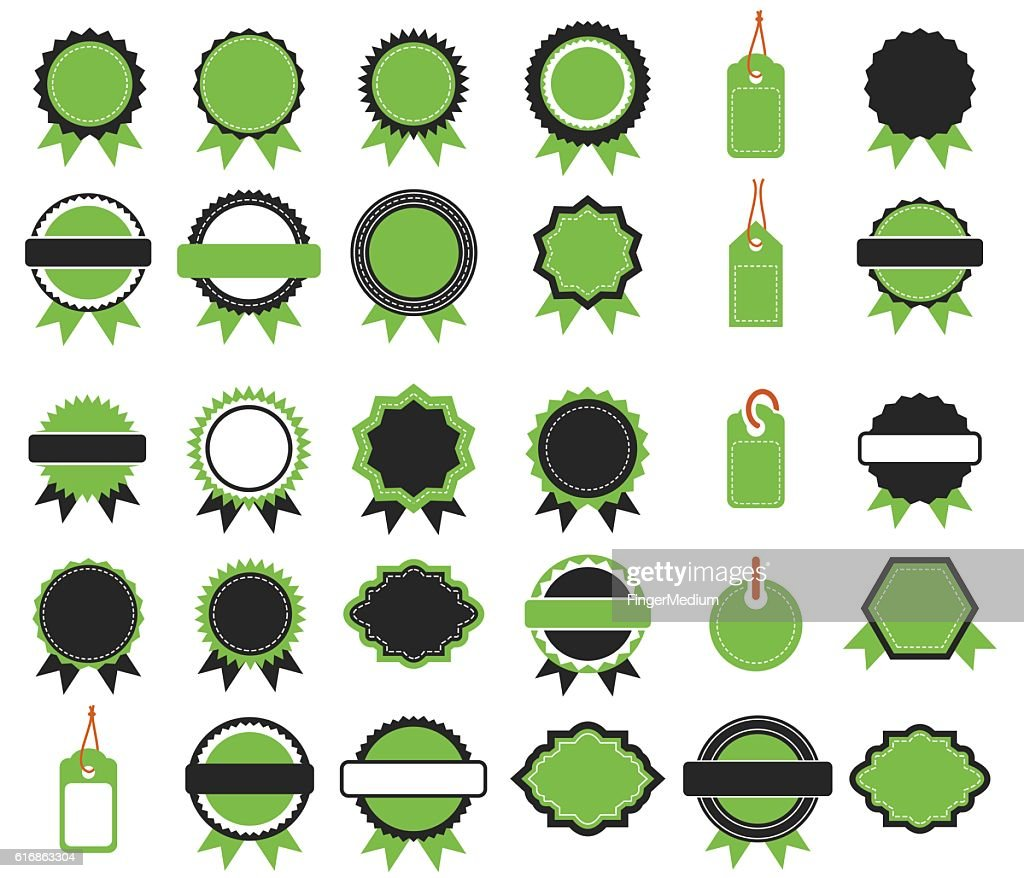 Badges and stamps : Vector Art