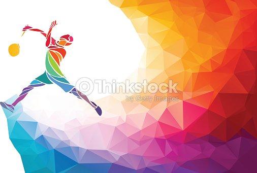 badminton sport invitation affiche ou flyer fond de polygone style clipart vectoriel thinkstock. Black Bedroom Furniture Sets. Home Design Ideas