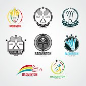 Badminton  Design Vector