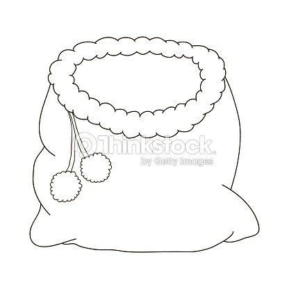 bag of santa claus for a christmas cartoon coloring pages coloring book for children