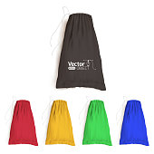 bag with drawstrings, mock-up, packaging for bulk products