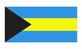Illustration of the isolated Bahamas flag on white background