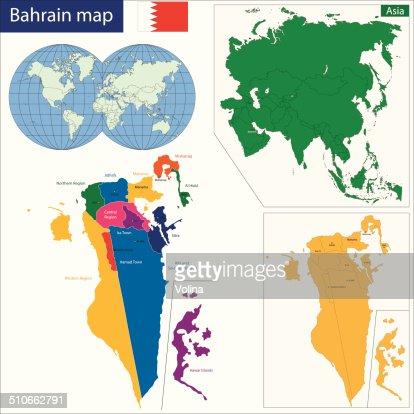 Bahrain map : Vector Art