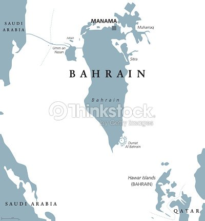 Bahrain Political Map stock vector   Thinkstock
