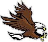 vector of bald eagle mascot