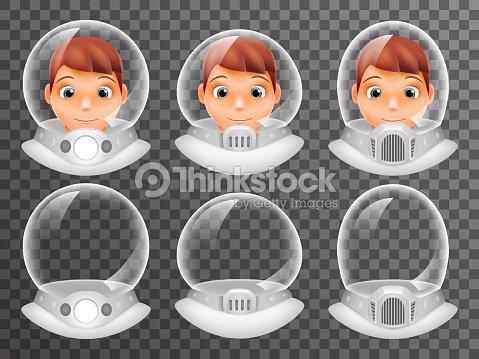 bald scientist avatar retro realistic helmet 3d cosmonaut astronaut