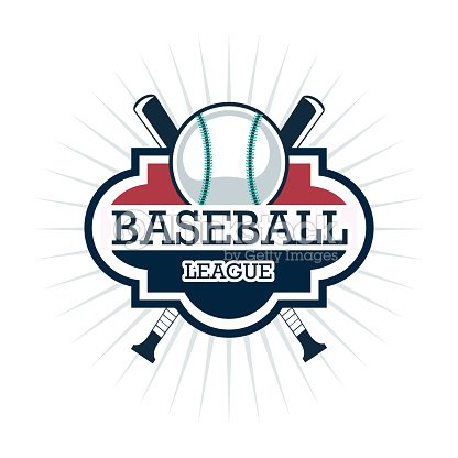 Ball and Bat of Baseball. Sport design. Vector graphic