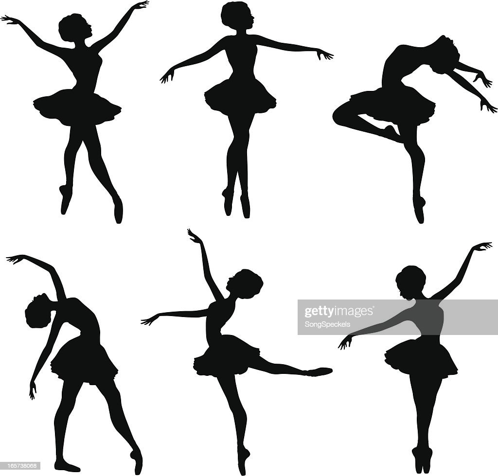 Ballerina Silhouettes Vector Art | Getty Images