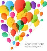 Balloons Background, vector illustration